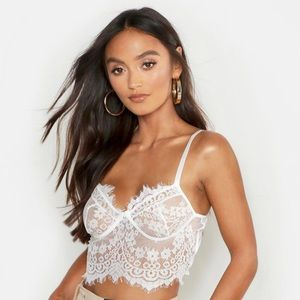 NWT Lace Bralette Crop Top